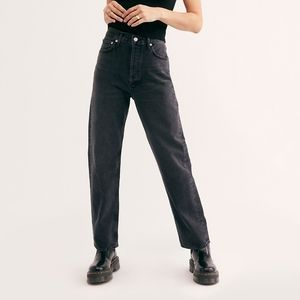 NWT AGOLDE Black 90s Mid Rise Loose Fit Jean 28